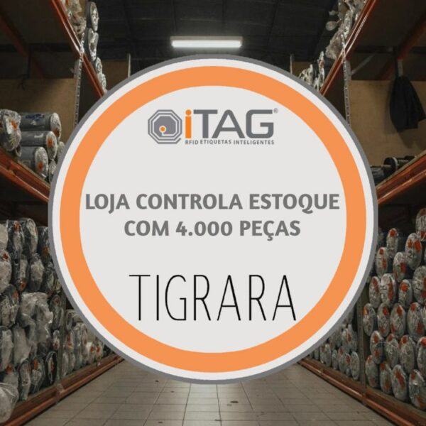 Tigrara controls stock of 4,000 pieces with RFID 4